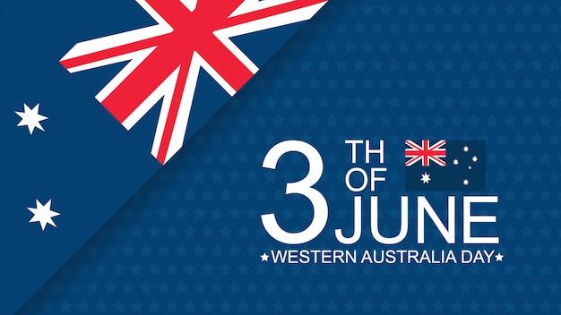 Australië dag viering sjabloon voor spandoek Premium Vector