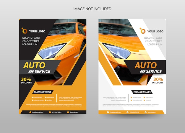 Auto auto folder sjabloon Premium Vector