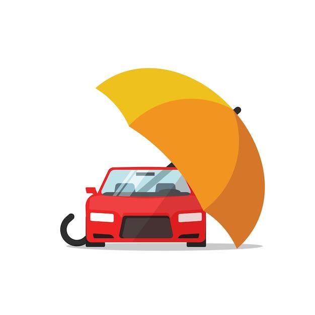 Auto autoverzekering concept, autobescherming Premium Vector