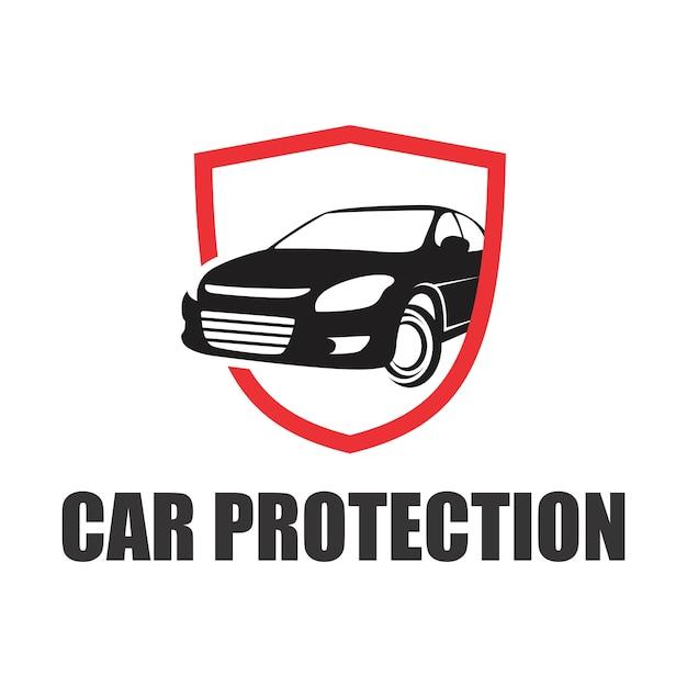 Auto bescherming logo Premium Vector