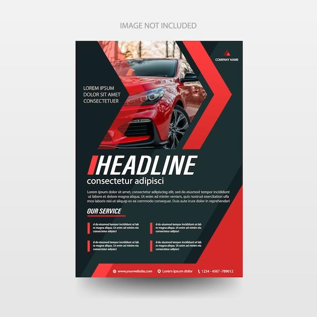 Auto flyer folder brochure dekking jaarverslag rapportsjabloon Premium Vector