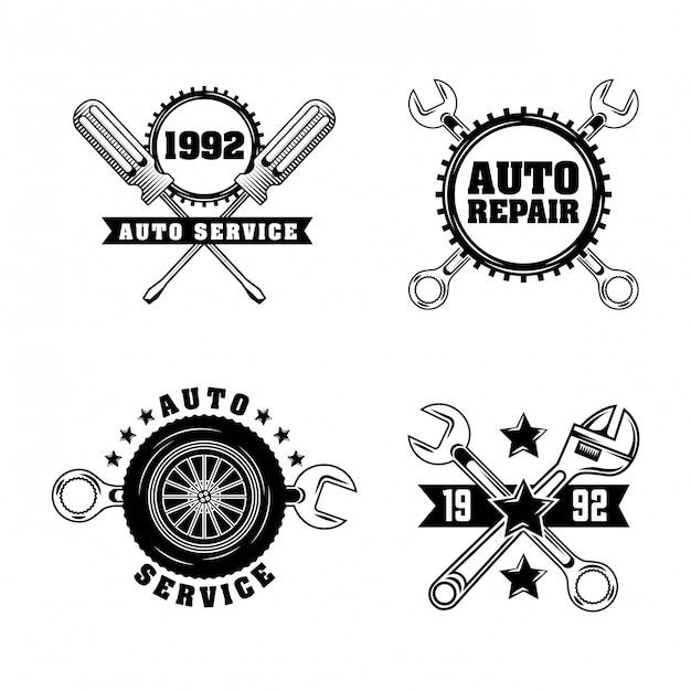 Auto-industrie labels Gratis Vector