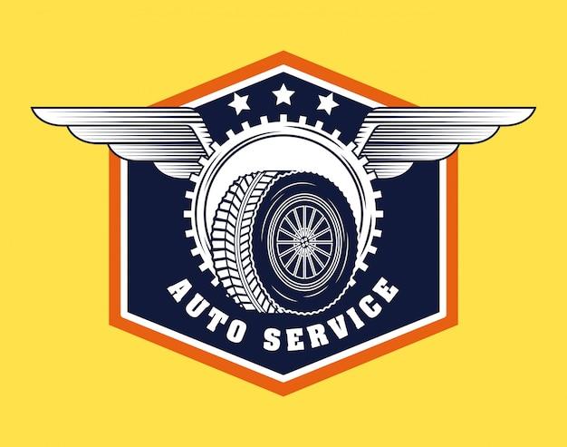 Auto-industrie logo Gratis Vector