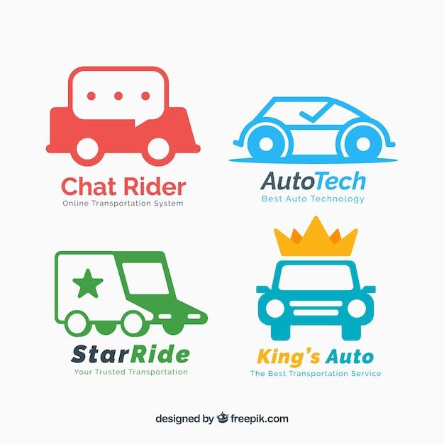 Auto logo collectie Gratis Vector