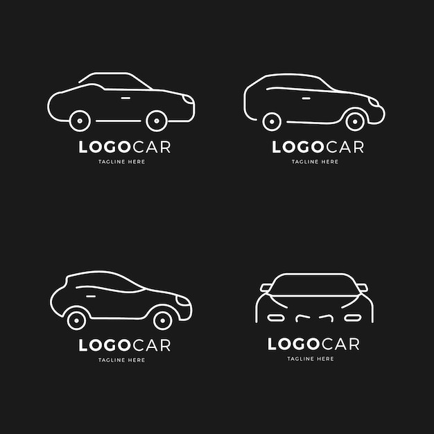 Auto logo collectie Gratis Vector
