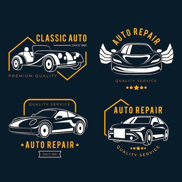 Auto logo pack Gratis Vector
