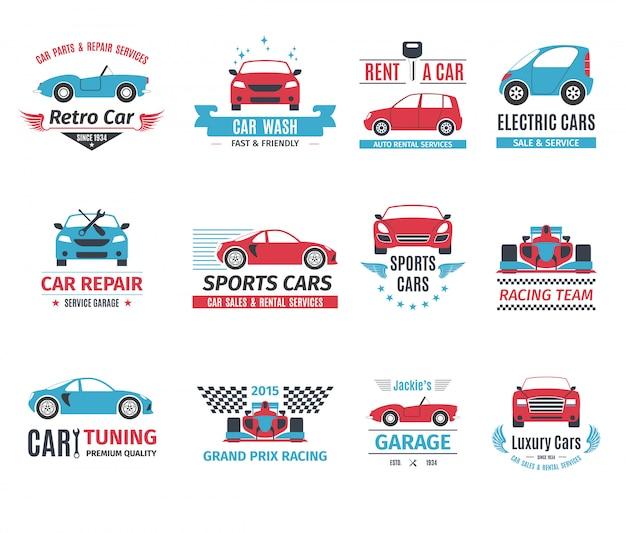 Auto logo set Gratis Vector
