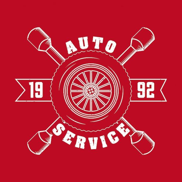 Auto reparatie service logo Gratis Vector