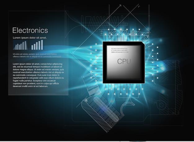 Auto's cpu. illustratie. Premium Vector