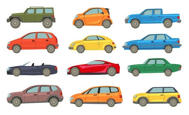 Auto's modellen icoon collectie Gratis Vector