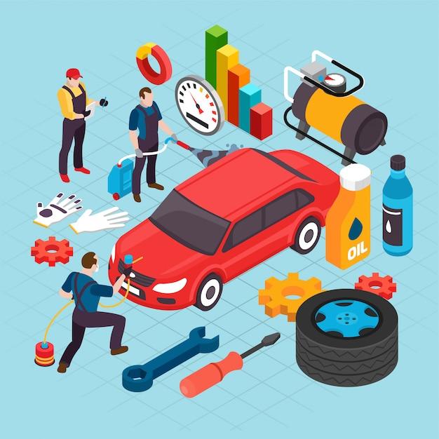 Auto service concept Gratis Vector