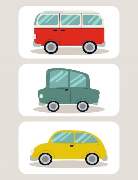Auto set Premium Vector