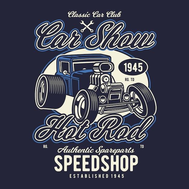Auto show Premium Vector