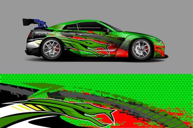 Auto sticker wrap illustratie Premium Vector