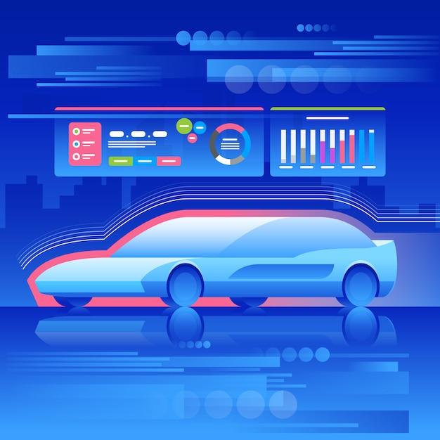 Auto van het toekomstige concept. Premium Vector