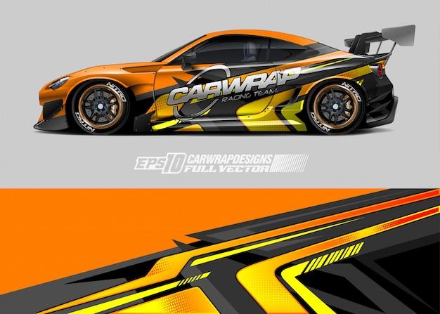 Auto wrap emblemen ontwerpen Premium Vector