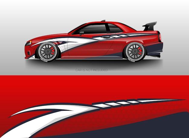 Auto wrap ontwerpen vector Premium Vector