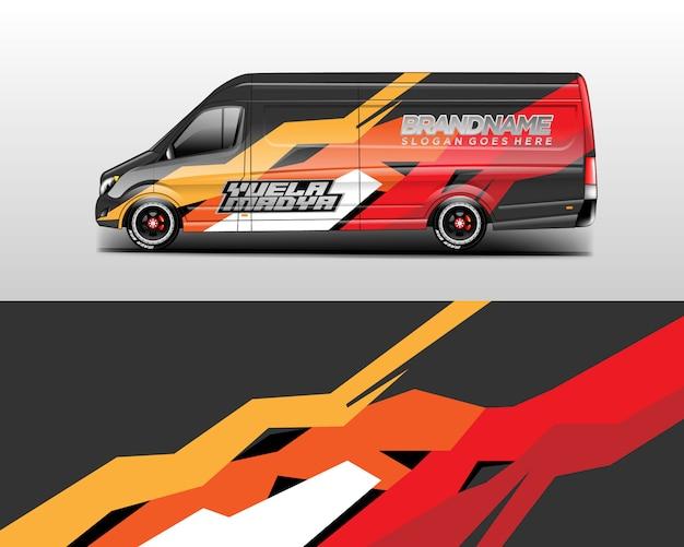Auto wrap ontwerpen. Premium Vector