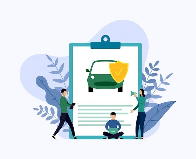 Autobescherming, bedrijfsconcepten vectorillustratie Premium Vector