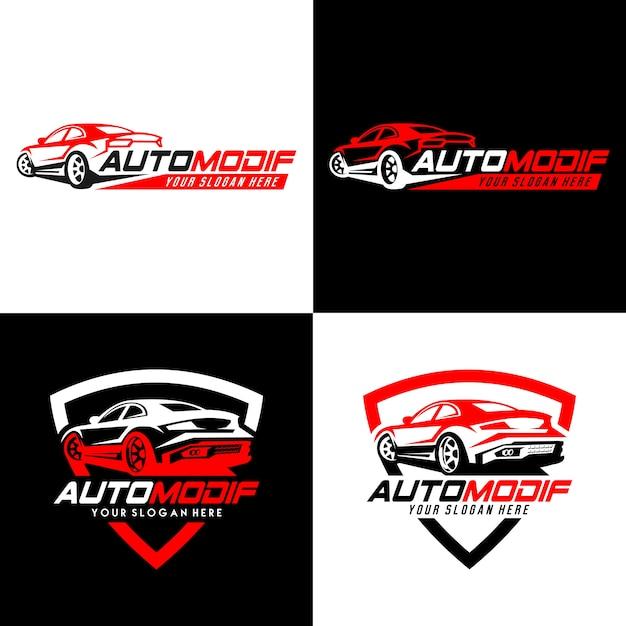 Automobiel logo en badges Premium Vector