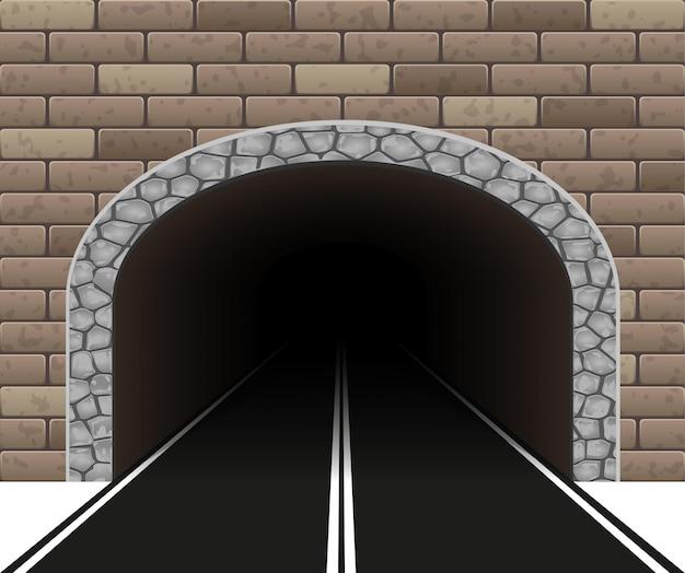 Automobiele tunnel vectorillustratie Premium Vector