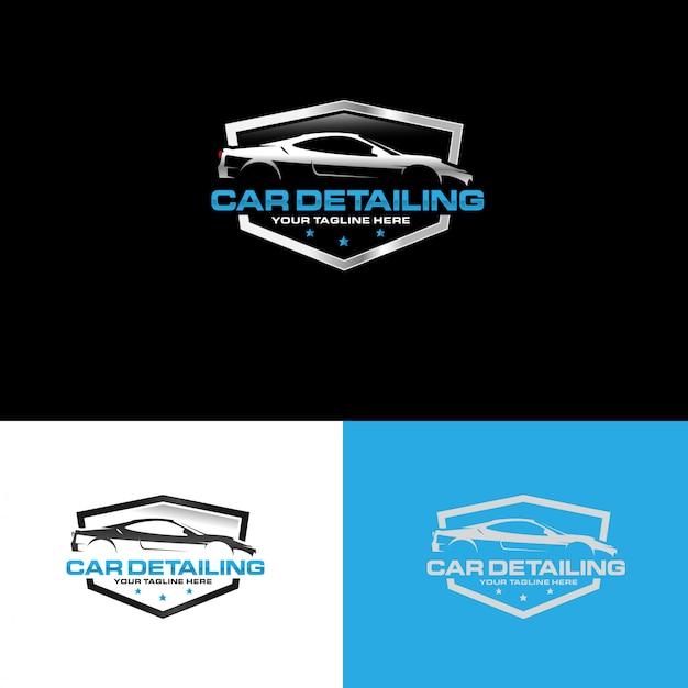 Automotive detaillering logo ontwerp vector Premium Vector