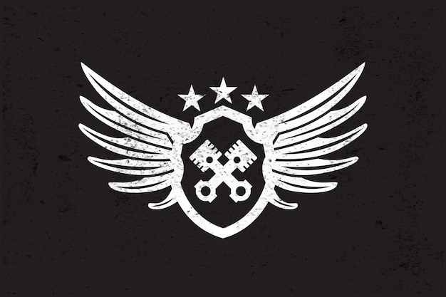 Automotive wing-logo. Premium Vector