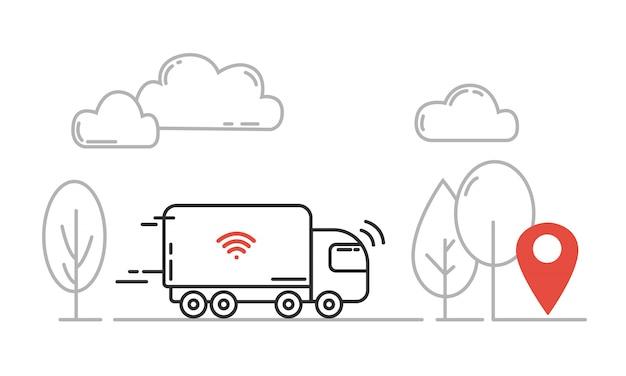 Autonoom transport Premium Vector