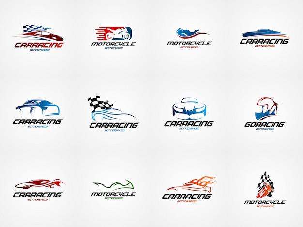 Autosport ontwerpsjabloon logo Premium Vector