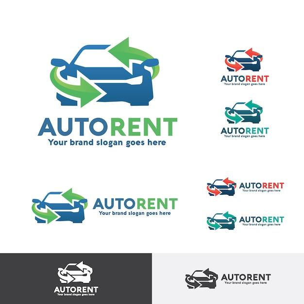 Autoverhuur logo Premium Vector