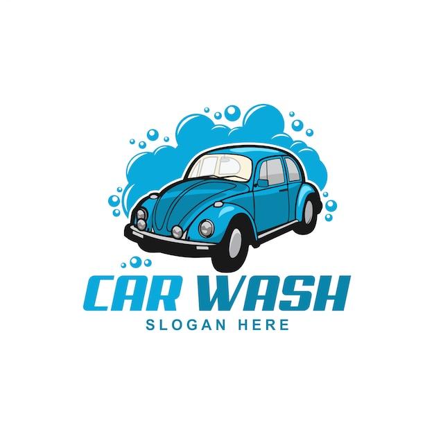 Autowassen logo Premium Vector
