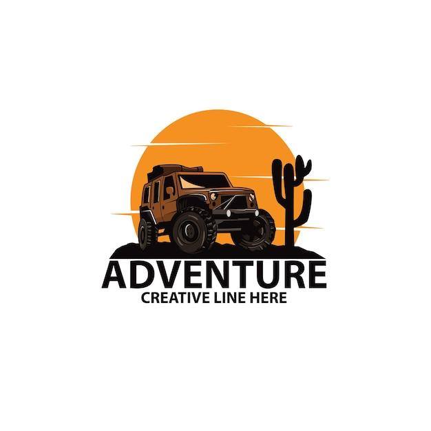 Avontuur in de woestijn Premium Vector