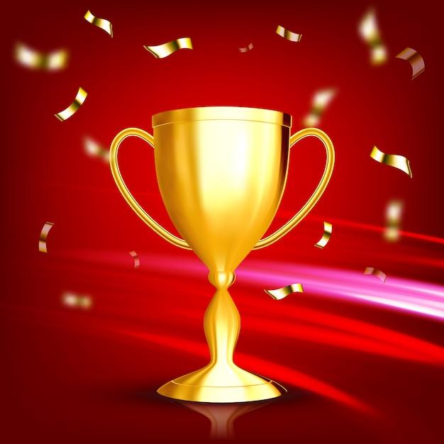 Award gouden beker Premium Vector
