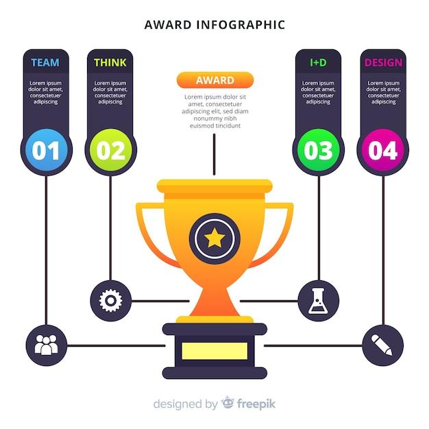 Award infographic Gratis Vector