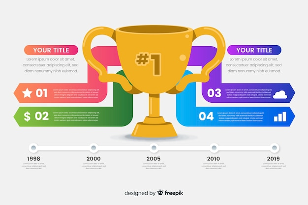 Award infographic Gratis Vector