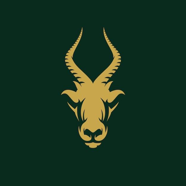 Awesome antilope ontwerp illustratie Premium Vector