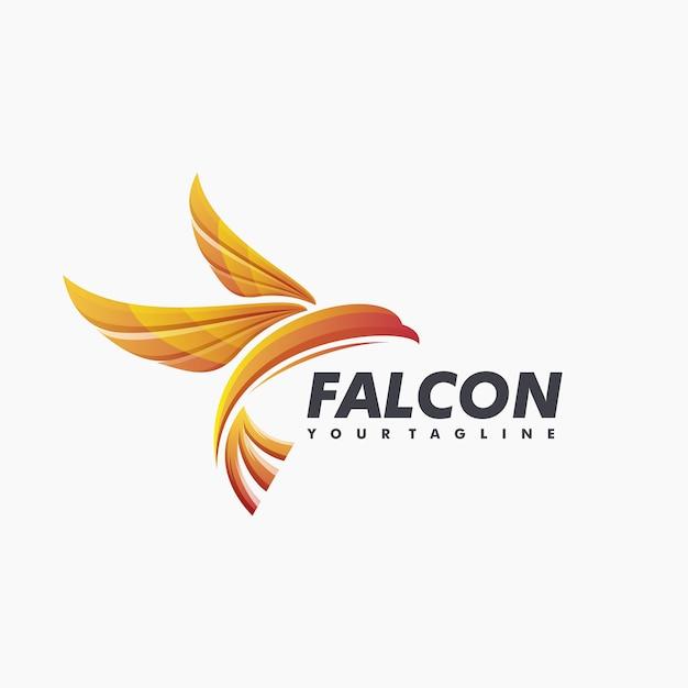 Awesome falcon logo ontwerp vector Premium Vector