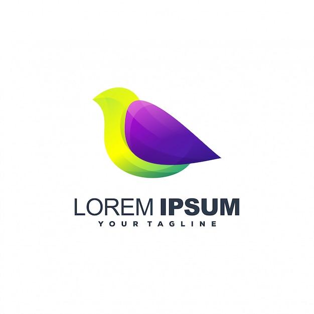 Awesome gradiënt vogel logo ontwerp Premium Vector