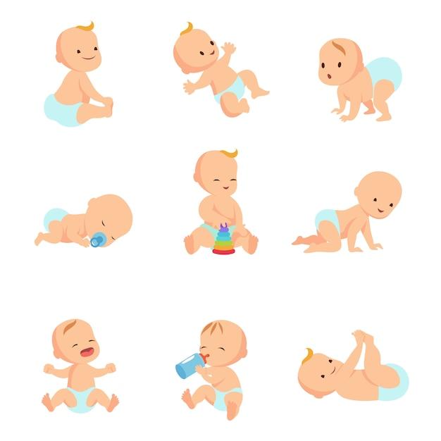 Baby baby vector tekens Premium Vector