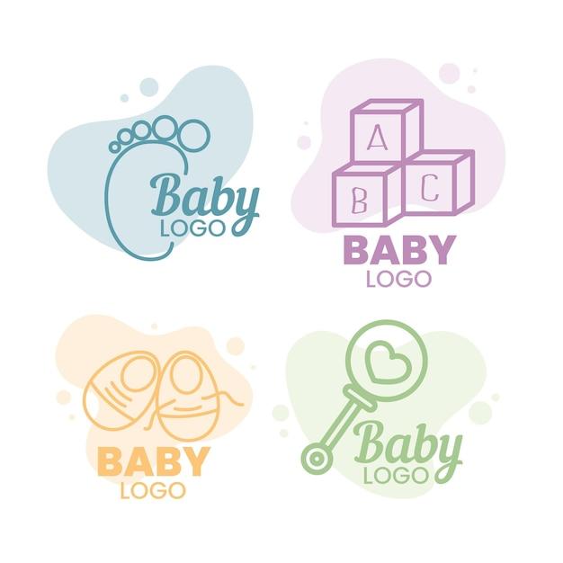 Baby logo collectie Gratis Vector