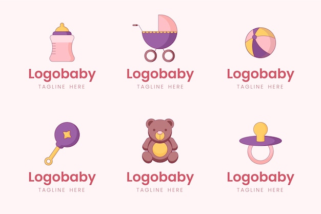 Baby logo collectie Premium Vector