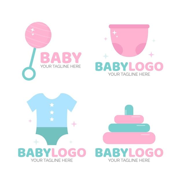 Baby logo sjablonen pack Premium Vector