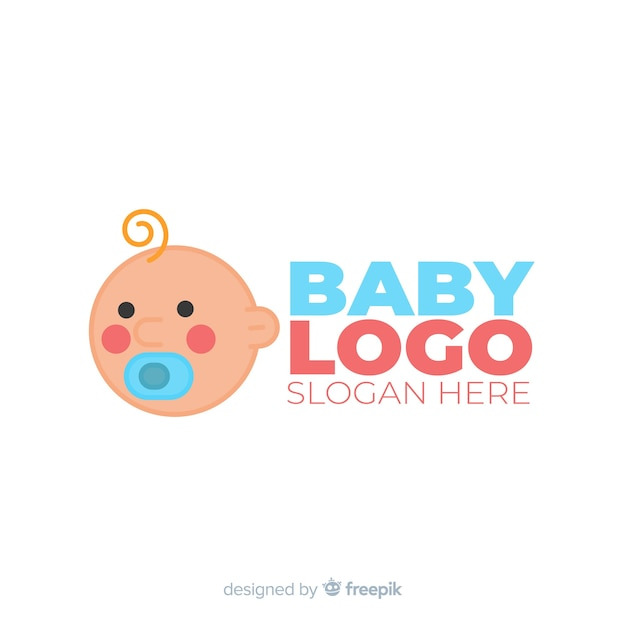 Baby logo sjabloon Gratis Vector