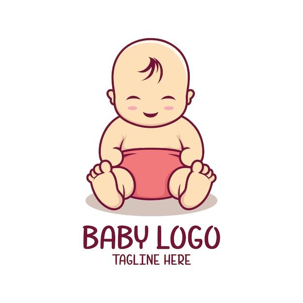 Baby logo sjabloon Premium Vector