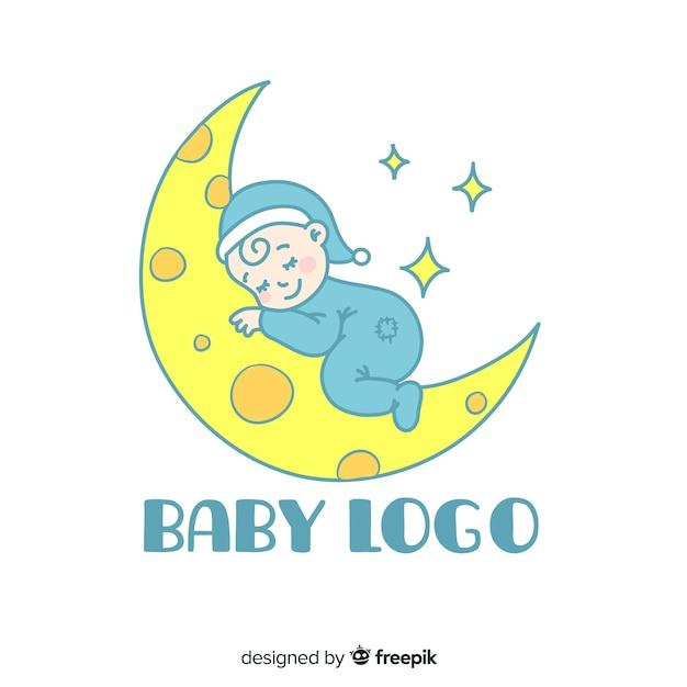 Baby logo Gratis Vector