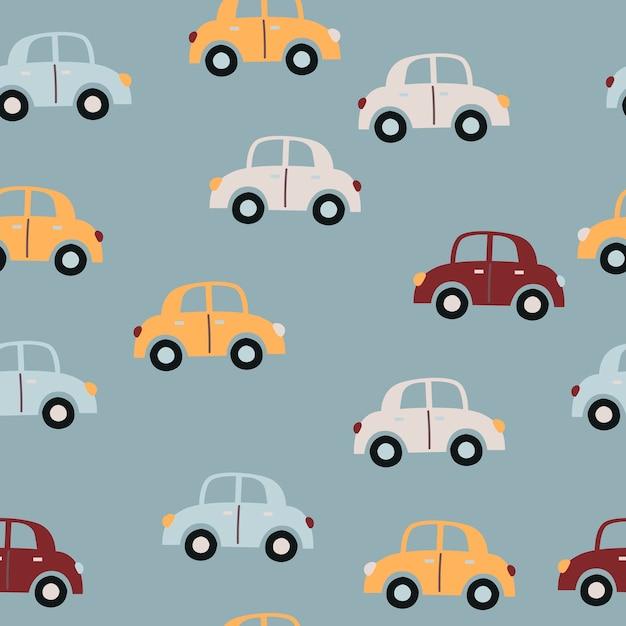 Baby naadloos patroon met auto's Premium Vector