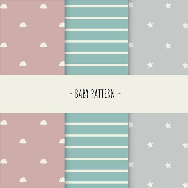 Baby patroon Gratis Vector