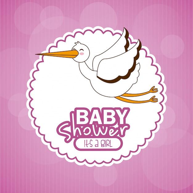 Baby shower eenvoudig element Gratis Vector
