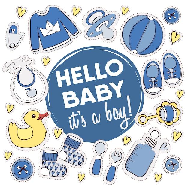 Baby shower ontwerpen collectie Gratis Vector