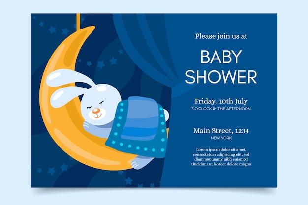 Baby shower uitnodiging ontwerp Premium Vector